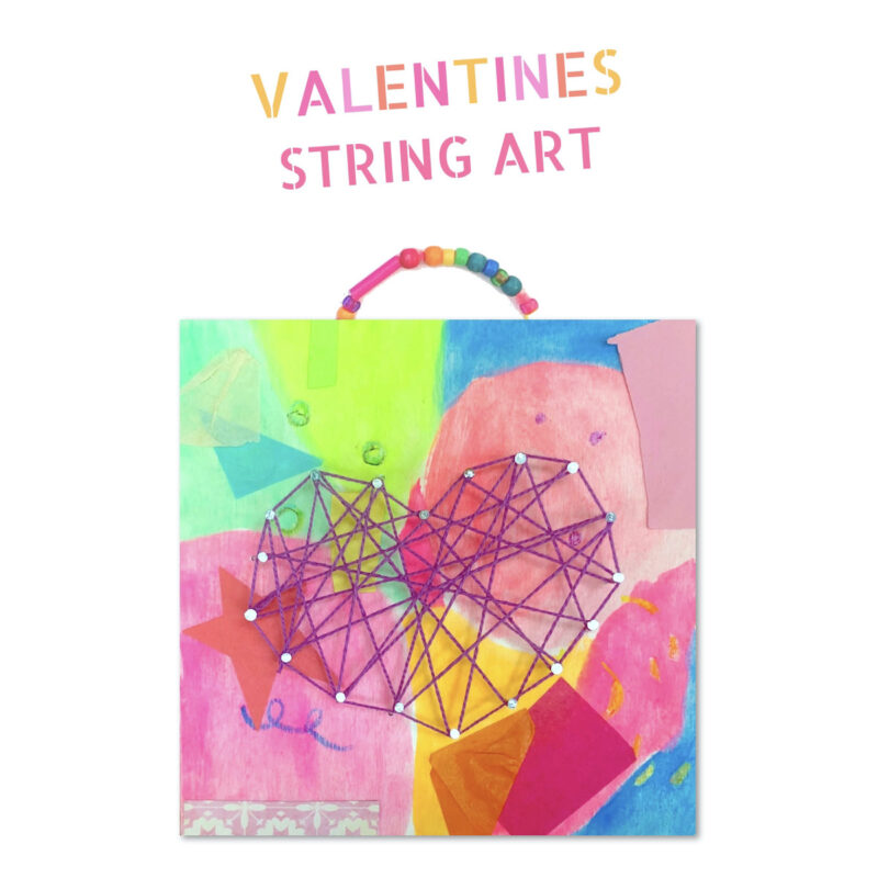 String Art Hearts
