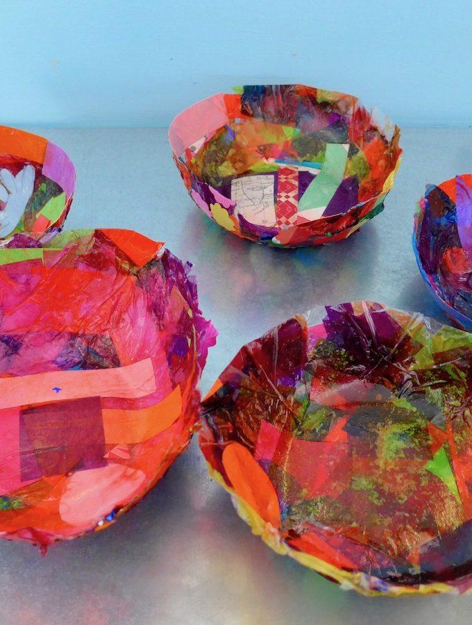 Tissue Paper Easter Baskets