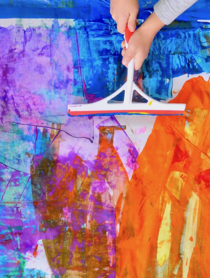 Scrape and Squeegee Paintings