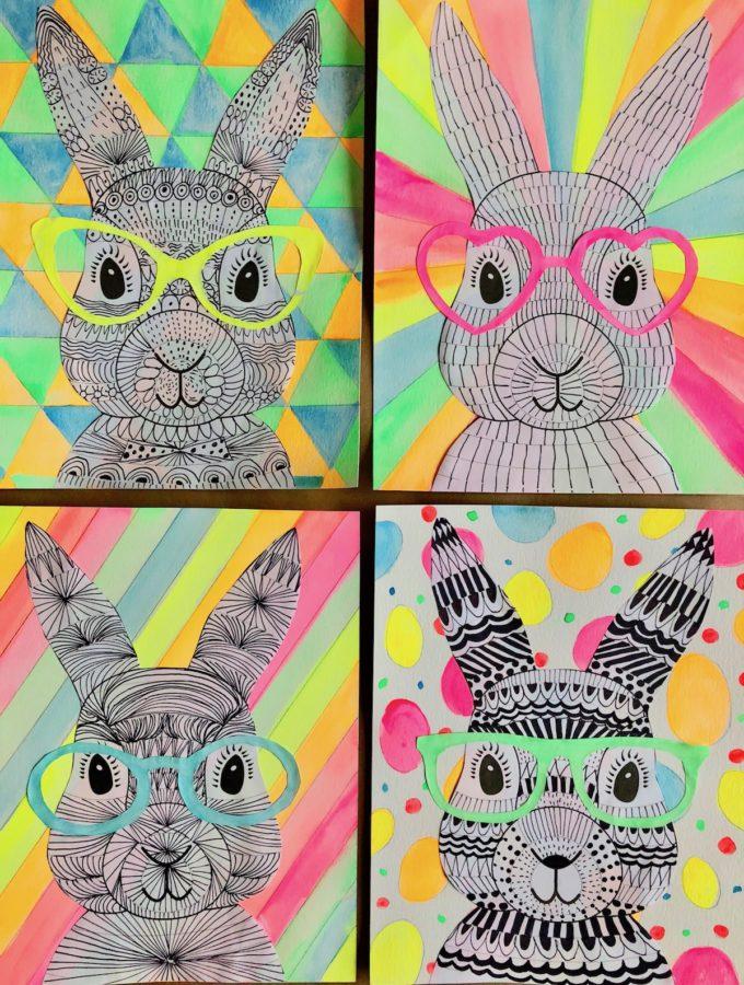 Funky Easter Bunnies