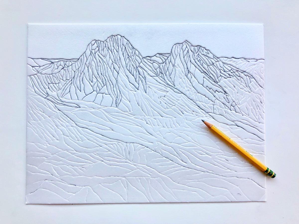 Mountain Styrofoam Prints   Wonderbar