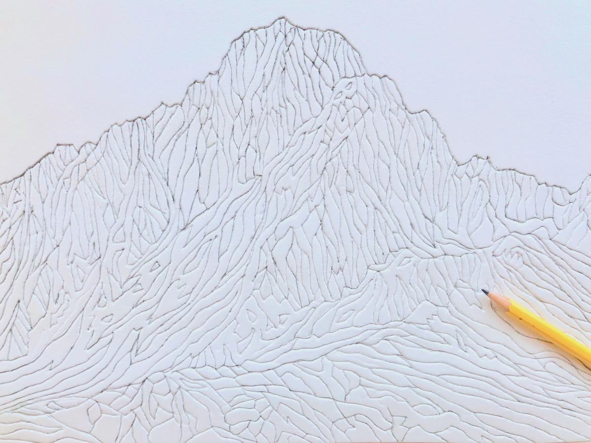 Mountain Styrofoam Prints | Wonderbar