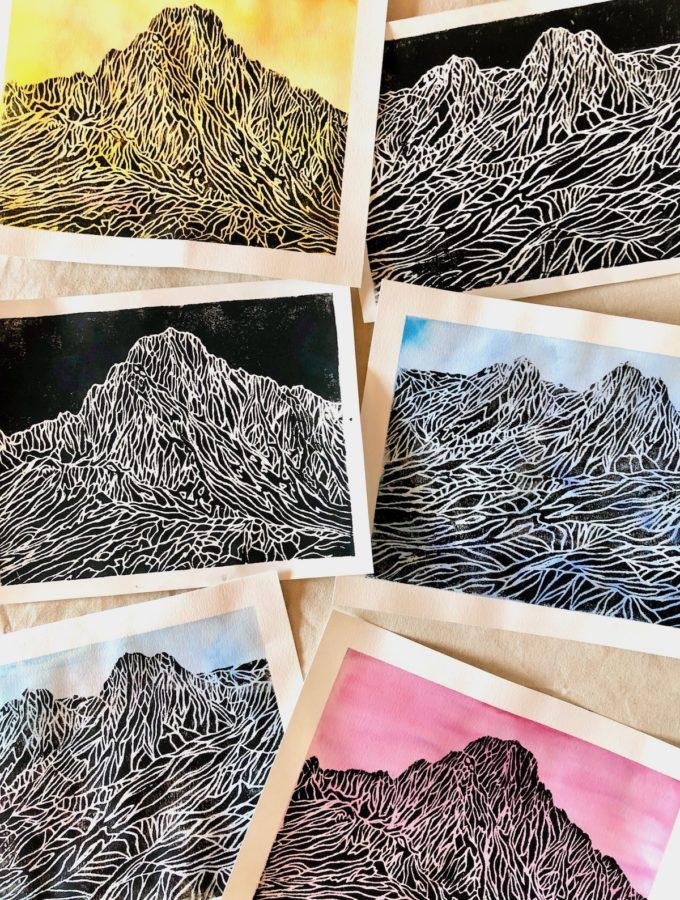 Mountain Styrofoam Prints