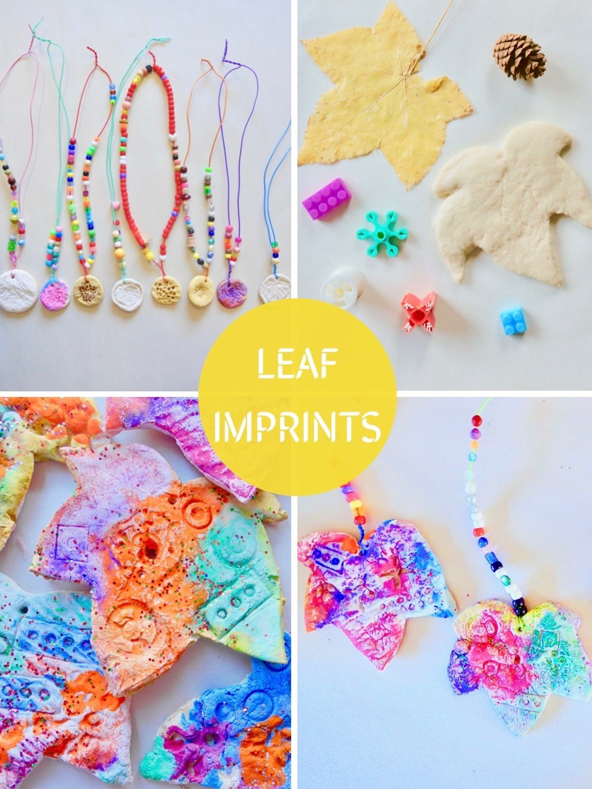Leaf Imprints and Nature Necklaces