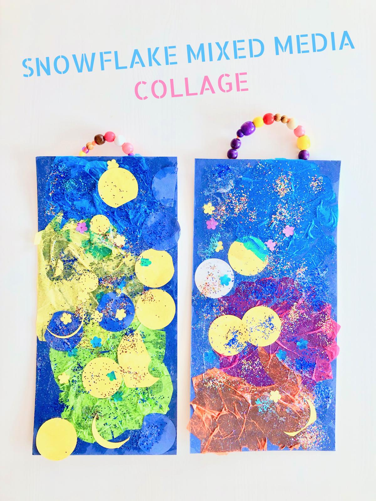 Snowflake Mixed Media Collage