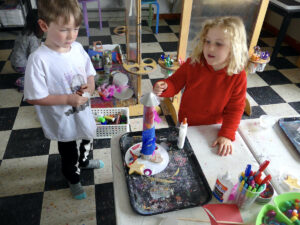 Outer Space Art Activity Pre-K