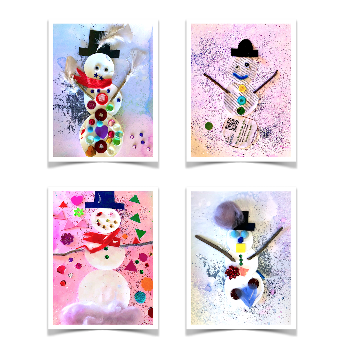 Collage Snowmen