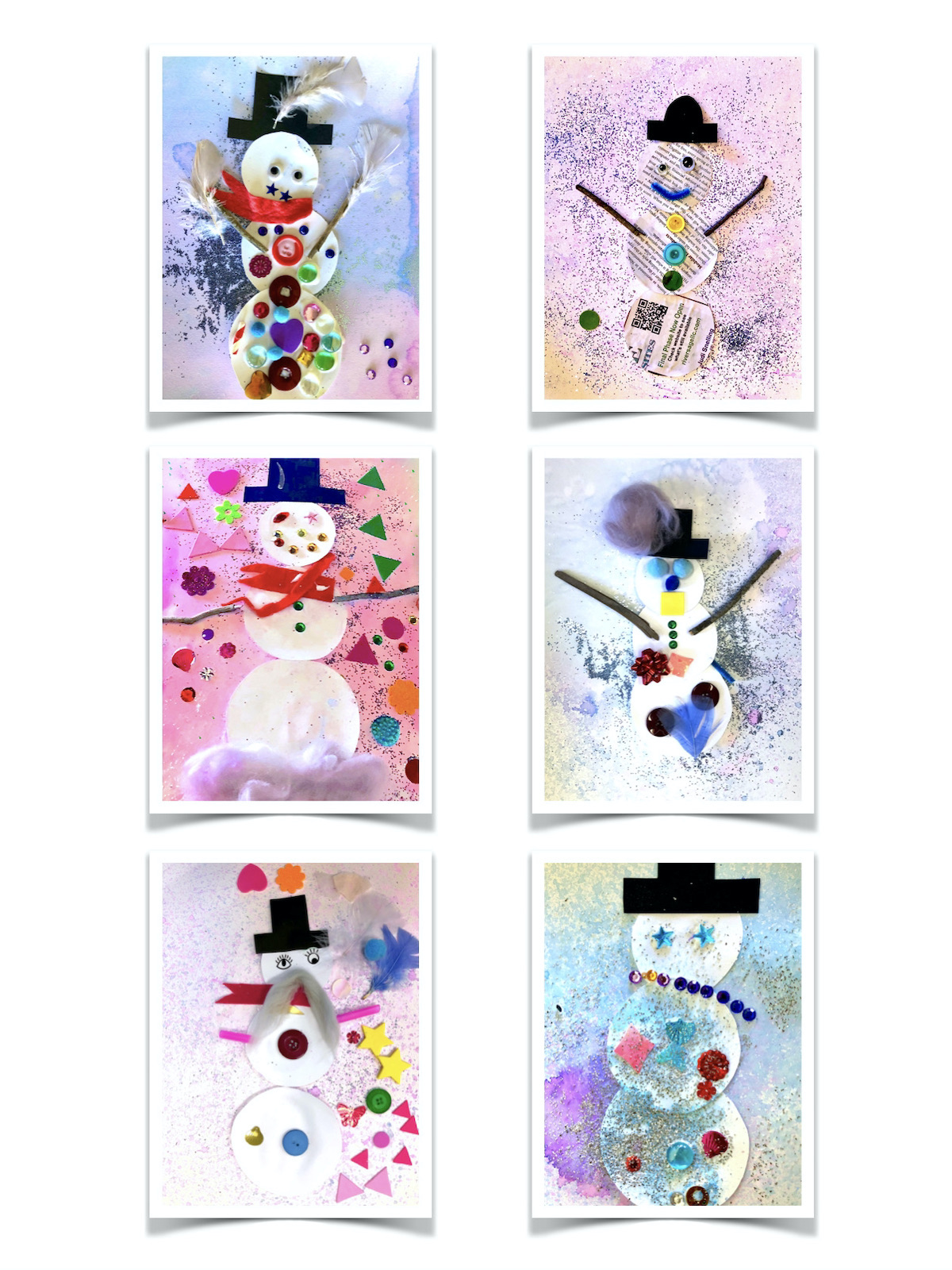Collage Snowman